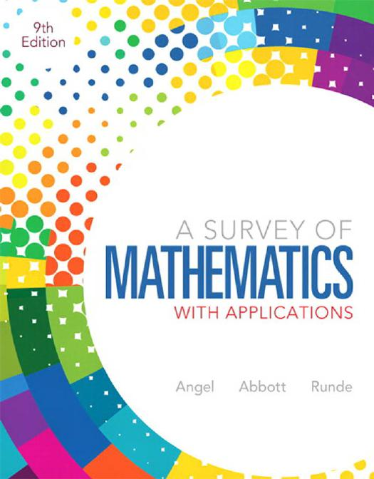 Mathematics online ebooks store a survey of mathematics with applications 9th edition by allen r angel christine d abbott and dennis c runde fandeluxe Image collections